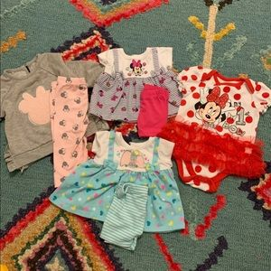 Disney baby girl outfit lot